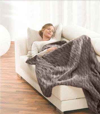 Faux Fur Electric Heated Throw Rug