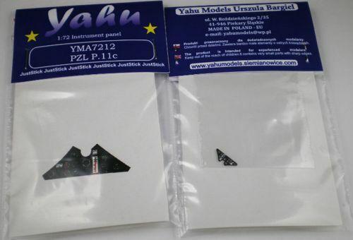 Yahu Models 1//72 PZL P.11C Photoetched Instrument Panels # YMA7212