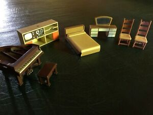 Details About Arco Dollhouse Bedroom 2 F P Chairs 2 Fisher Price Piano And Stereo