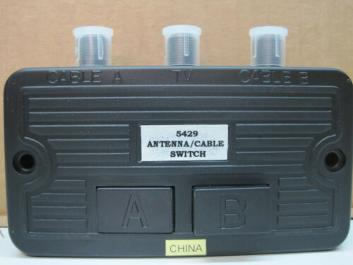 Antenna Cable TV Coax Switch 135407 Switcher Coaxial 2-Way Push Button 10-Pack