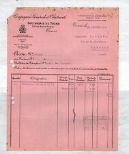 """TOURS (37) FOURNITURE & MATERIEL """"COMPAGNIE GENERALE D'ELECTRICITE"""" en 1930"""