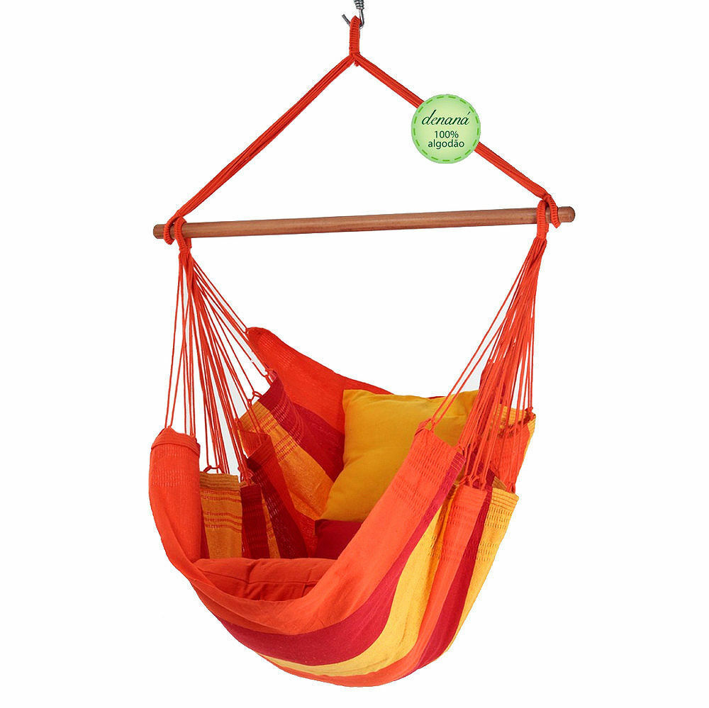 Hanging Chair Hanging Chair Acerola rot Gelb 100% Cotton denana