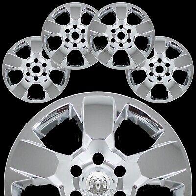 "4 fits Dodge Ram 1500 Truck 2019 2020 Black 18/"" Wheel Skins Hub Caps Rim Covers"