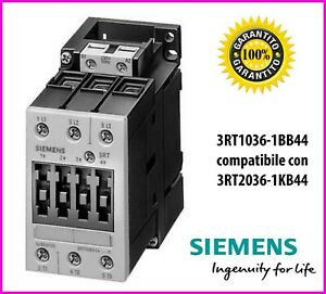 SIEMENS NEW 3RT1024-1BB44 PLC CONTACTOR 3 POLE AUXILIARY CONTACTS
