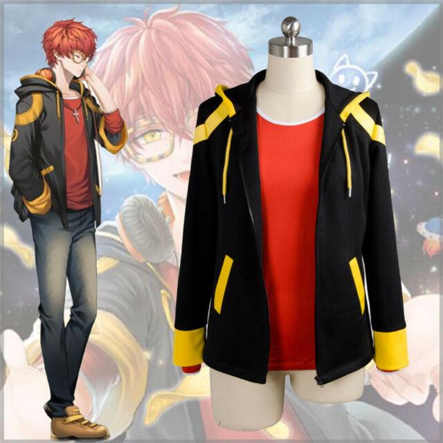 Anime Mystic Messenger 707 Top Unisex Cosplay Costume Hoodie Jacket Game Coat