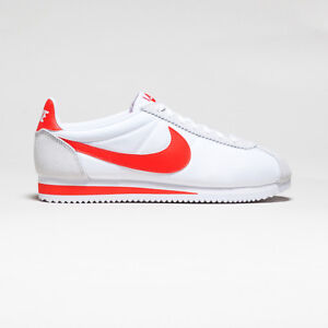 buy popular b6e0d 5b709 Details about NIKE CORTEZ NYLON WHITE/HABANERO RED