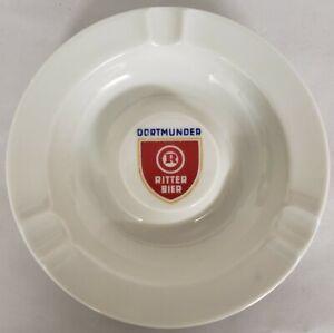 """Vintage Dortmunder Ritter bier Porcelain Ashtray 6 1/4"""" Plankenhammer Floss"""