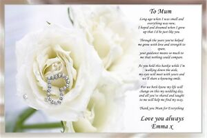 Image Is Loading A4 Cream Personalised Poem To My Mum On