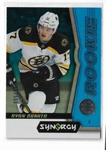 2018-19 Upper Deck Synergy Hockey Blue Parallel /599 Ryan Donato Boston Bruins