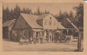 Heuberg, Postkutsche und Güllewagen vor Gasthaus gl1919 E6042