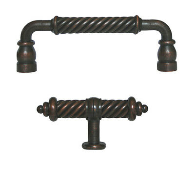 """Oil Rubbed Bronze 3/"""" Cabinet Fluted Pull 5/"""" length"""