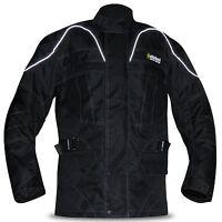 Mens Armoured Motorbike Jacket Cordura Textile Motorcycle Wind Waterproof Racing