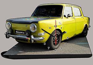 Horloge Miniature, Model Cars, Simca Rallye 2, Simca-rallye-2-01