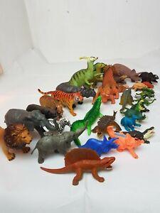 Mixed-Fascio-di-VINTAGE-carnegi-Safari-dinosauri-in-plastica-Figure-Animali-Toys
