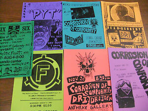 Corrosion-Of-Conformity-Repo-Concert-Flyer-Lot-Inbred-Dead-Kennedys-COC-Napalm