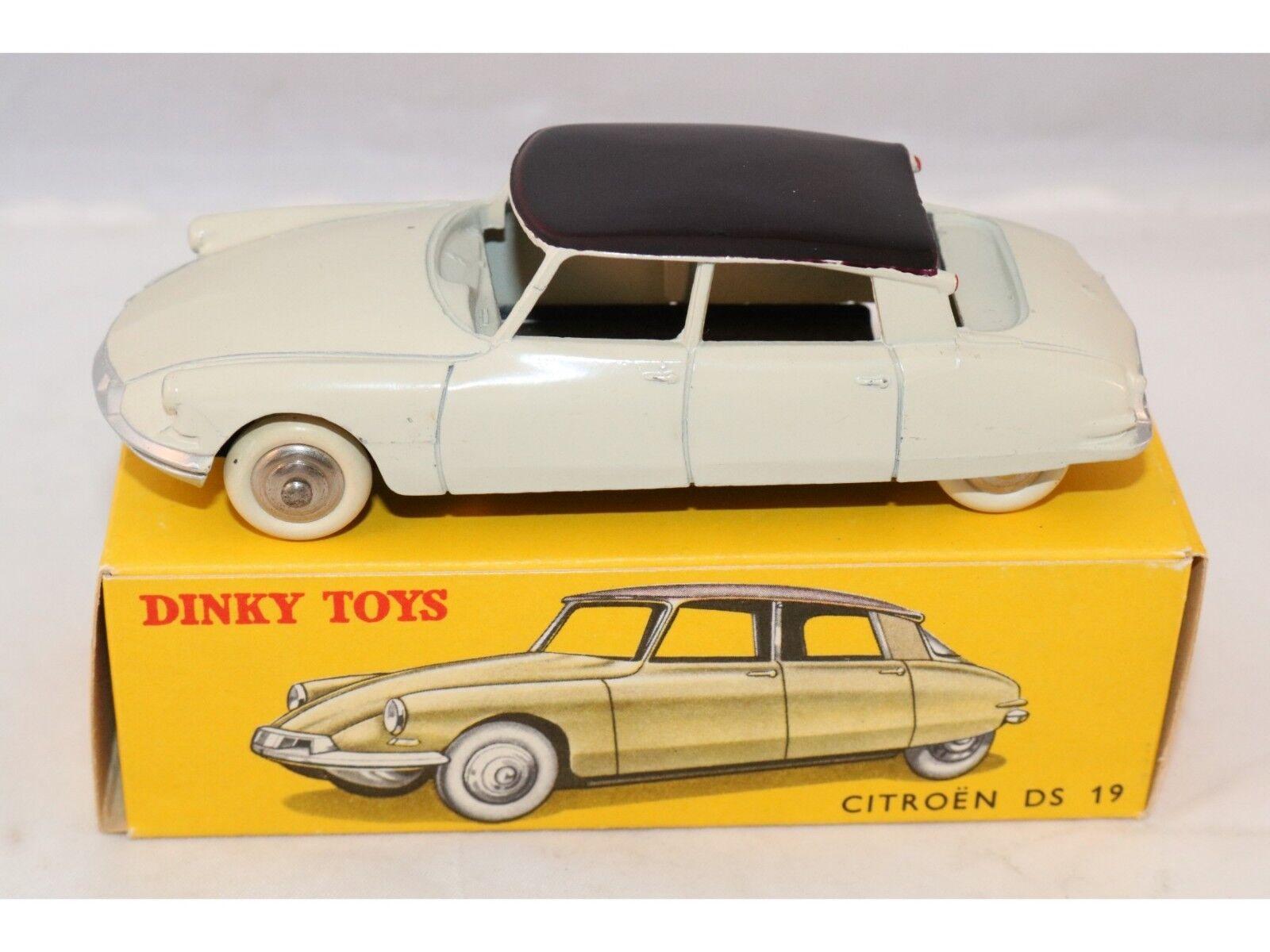 Dinky Toys 24C 24 C Citroen DS 19  Ivory with aubergine 99.9% mint in box Superb  service de première classe