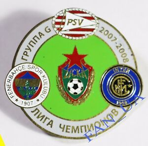 Badge-spilla-Pin-CSKA-Moscow-PSV-Fenerbahce-Internazionale-FC-2007-2008-League