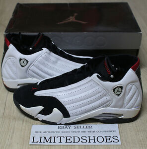 big sale 95d7a 16208 Details about 2006 NIKE AIR JORDAN 14 XIV RETRO BLACK TOE 311832-162 US  12.5 candy cane bred
