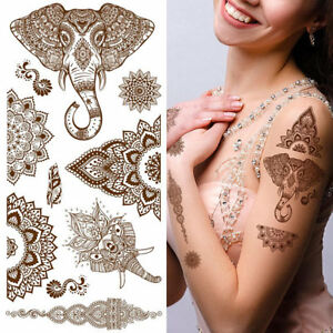 aafeb42e94edb Image is loading Supperb-Temporary-Tattoos-Mandala-Henna -Healing-Yoga-Meditation-