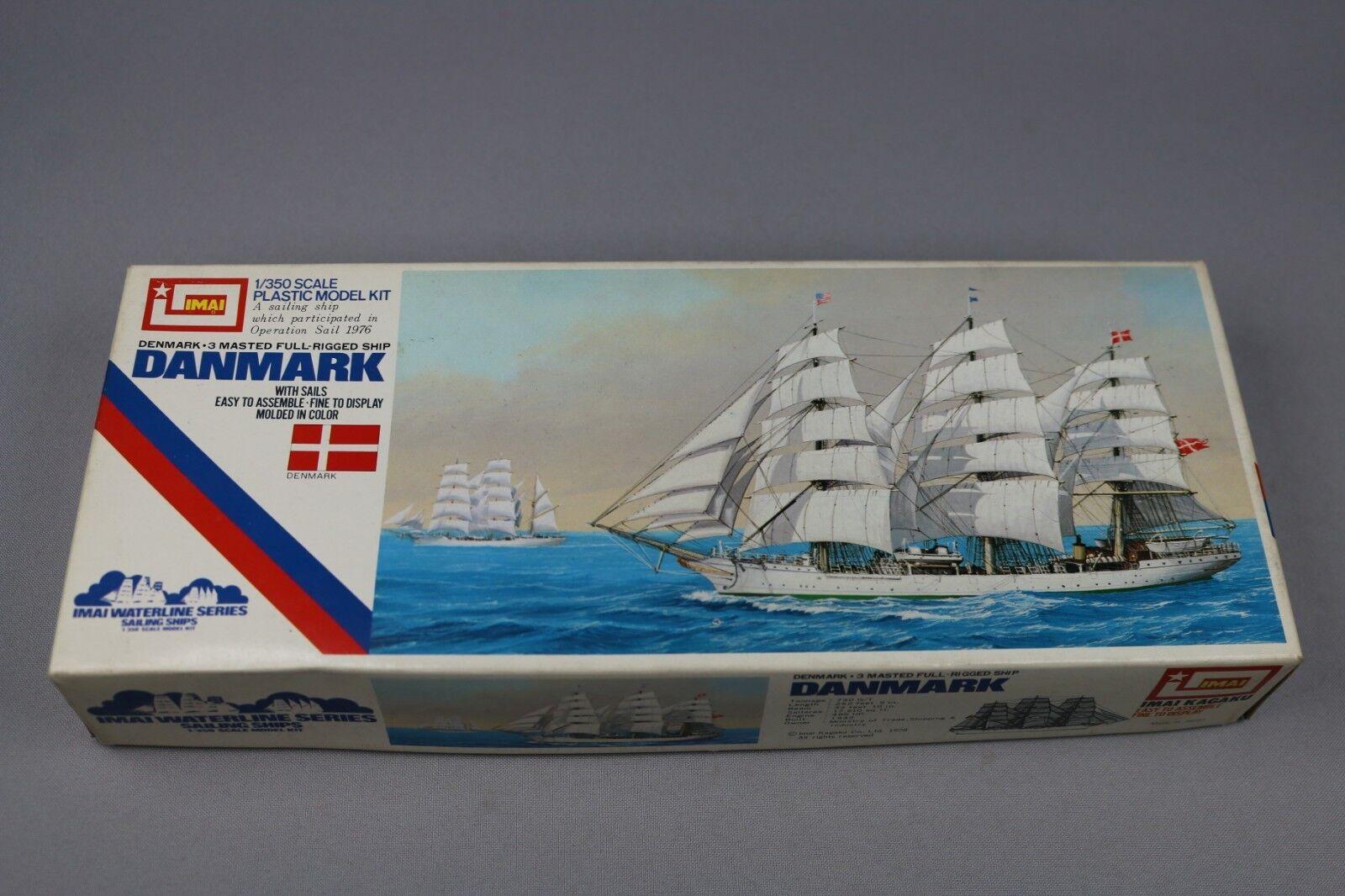 Zf955 Imai 1 350 Maqueta Barco B-313 Danmark Dinamarca 3 Masted Full-Rigged