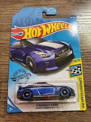 R35 Hot Wheels 2020 velocidade #10//10/'17 Nissan GT-R 2020 Modelo 50th Versão Ann.