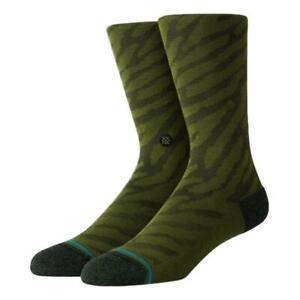 Stance-NEW-Men-039-s-Eldrick-Socks-Olive-BNWT