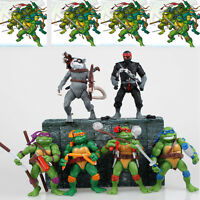 6pcs Set Teenage Mutant Ninja Turtles TMNT Classic Action Figures Children Toys