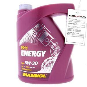 5-Liter-MANNOL-Energy-5W-30-API-SL-A3-B3-Motoroel-5W30-4036021503103