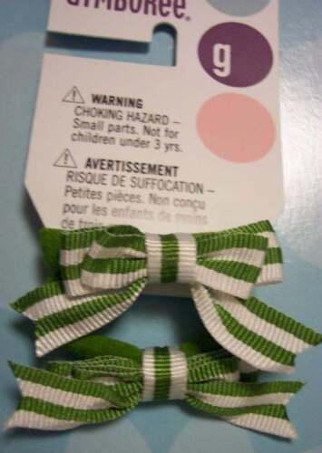 NWT girls DANDELION WISHES 2 pc green stripe ponytail holder set Gymboree 3 4 5