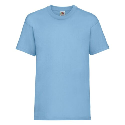 Fruit Of The Loom Childrens Kids 100/% Cotton Short Sleeve Valueweight T-Shirt