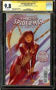 Amazing-Spider-Man-15-CGC-9-8-SIGNED-2x-STAN-LEE-amp-CAMUNCOLI-IRON-SPIDER-ROSS