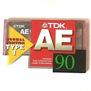 TDK-AE-90-Normal-Position-TYPE1-Audio-Cassette-Tape-NEW-Sealed-BULK-DISCOUNT-5