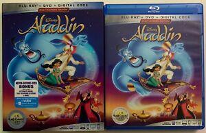 DISNEY-ALADDIN-ANIMATED-BLU-RAY-DVD-2-DISC-SET-SLIPCOVER-SLEEVE-MULTI-SCREEN