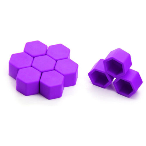 19mm Purple ALLOY CAR WHEEL NUT BOLT COVERS CAPS UNIVERSAL FOR CAR NEW BY KSWM