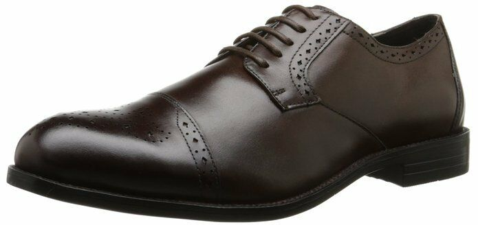 Stacy Adams Men's Granville Oxford Brown Leather Dress shoes 24988-200