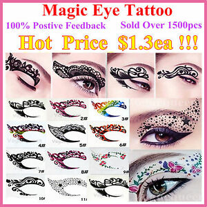 New-Temporary-Eye-Tattoo-Transfers-amp-Eyeliner-Sticker-amp-Eye-shadow-Sticker-Transfer