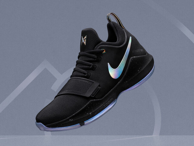 buy cheap 002a1 7cfbc Nike PG 1 TS Prototype size 8. Pre-Heat Shining Paul George. Black.  911082-099.