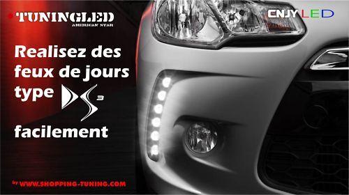 DS3 FEUX DE JOUR DIURNE LED FORD COURIER KUGA S-MAX