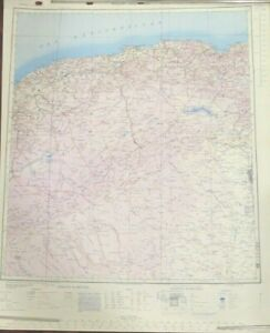 WWII-MAP-ALGERIA-British-Reprint-of-French-Wartime-ALGERIA-amp-TUNIS-ALGERIE