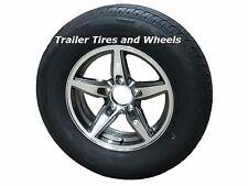 "BOGR 175/80R13 LRC 6 PR Radial Trailer Tire on 13"" 5 Lug Aluminum Trailer Wheel"