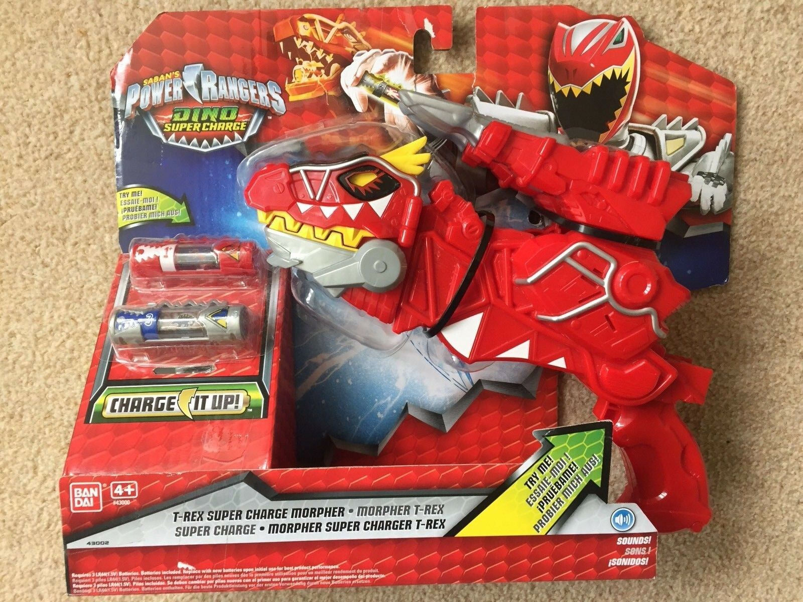 Power Rangers Dino Super Charge Deluxe T-Rex Morpher ROT Toy Gun New