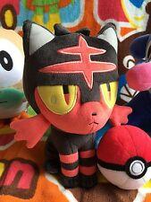 2016 NEW Pokemon Center Original Litten 20CM Plush Doll Toy Gift Sun Moon Series