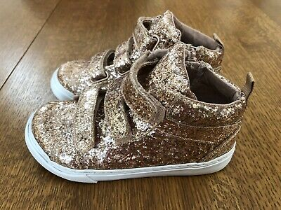 Toddler Girls Size 10 US NWT Silver GAP Baby Metallic Slip-On Sneakers Shoes