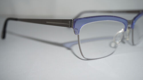 19700272945 3 of 10 TOM FORD RX Frame Eyeglasses New Blue Silver FT5392 V 080 54 18 135