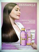 PUBLICITE-ADVERTISING :  DESSANGE Infusion Lumière  2015 Coiffure