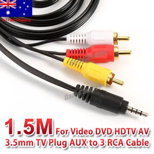 AUX-Male-3-5mm-to-3-RCA-AV-Audio-Video-Male-Converter-Cable-TV-Cord-Adapter-Wire