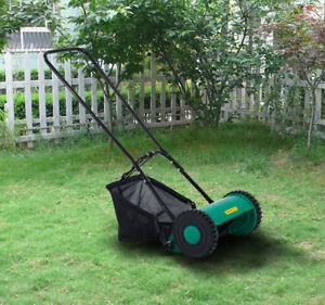 Image Is Loading Outsunny Hand Push Lawn Adjule Reel Mower W