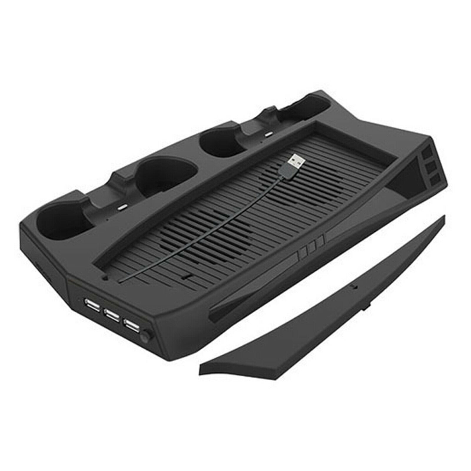 Cooling Fan Stand For PS5 With 3 Hub Port 1PC Vertical Dual Controller Charging