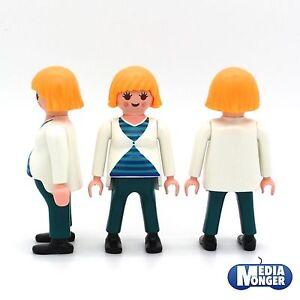 playmobil-Figur-schwangere-Frau-in-Umstaenden-Babybauch-Mutter-5568-RAR