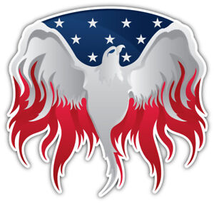 USA-Flag-Eagle-Flaming-Car-Bumper-Sticker-Decal-034-SIZES-034